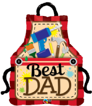 Best Dad Apron Large Foil Balloon 1pc